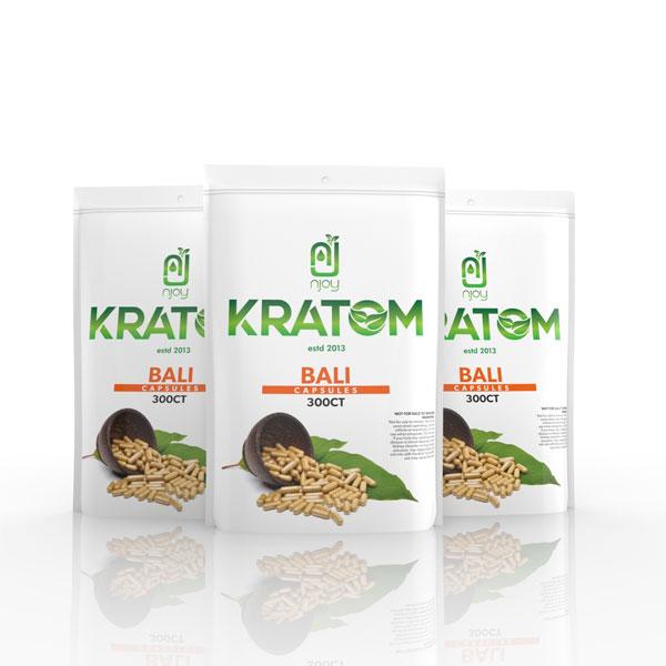 NJOY Kratom Bali Capsule 300 Count Bag