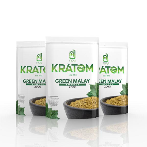 NJOY Kratom Green Malay Powder 200 Grams