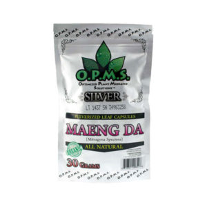 O.P.M.S. Silver Green Vein Maeng Da Capsules - 30g