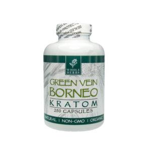Whole Herbs Green Vein Maeng Da Capsules - 500 Count