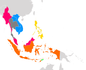 Map of Southeast Asian Colonies